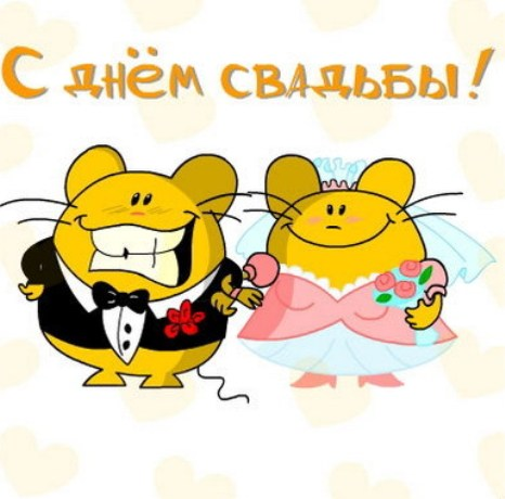 Поздравления с днем свадьбы от друга прикольные