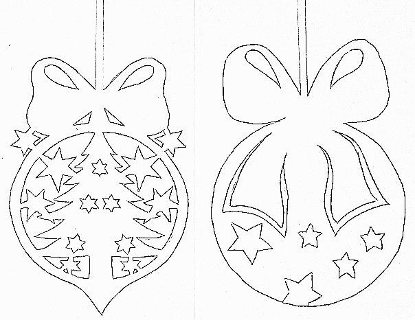Украшения на окна из бумаги к Новому году: трафареты