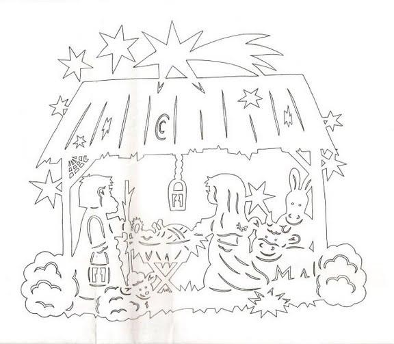 Шаблон рождественской открытки своими руками
