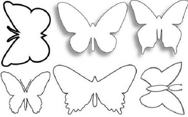 Бабочки для декора шаблоны