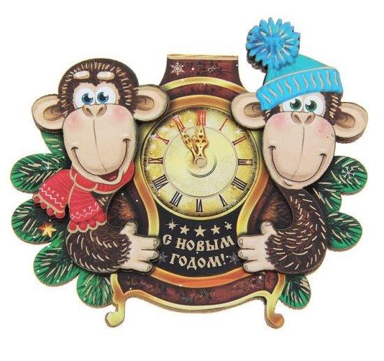 Открытки, картинки новогодние с обезьяной, бесплатно без регистрации и смс